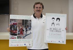 El regidor de Mobilitat Sostenible, Giuseppe Grezzi, presenta en roda de premsa les activitats de la Setmana de la Mobilitat.