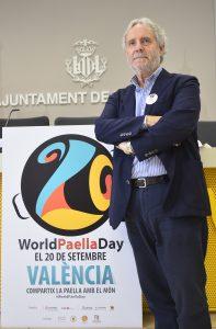 El regidor de Turisme i Internacionalització Emiliano García presenta en roda de premsa el Dia Mundial de la Paella (20 de Setembre)