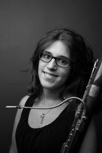 Andrea Pérez alumna de la Cátedra de Fagot de la ESMRS (Escuela Superior de Música Reina Sofía)